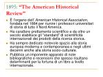 1895 the american historical review