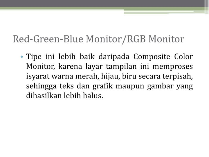 Red-Green-Blue Monitor/RGB Monitor