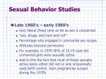 sexual behavior studies1