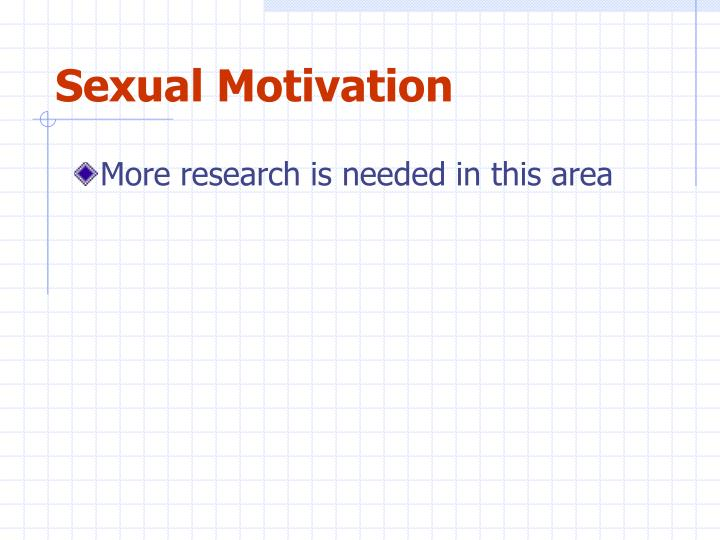 Sexual Motivation