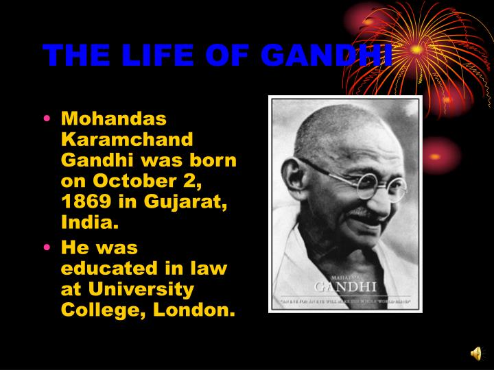 The life of gandhi1