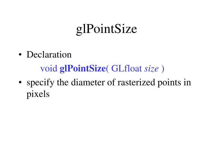 glPointSize
