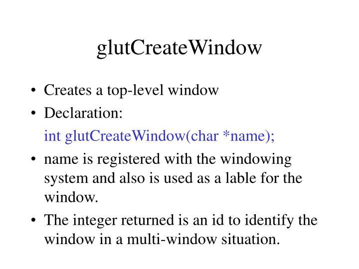 glutCreateWindow