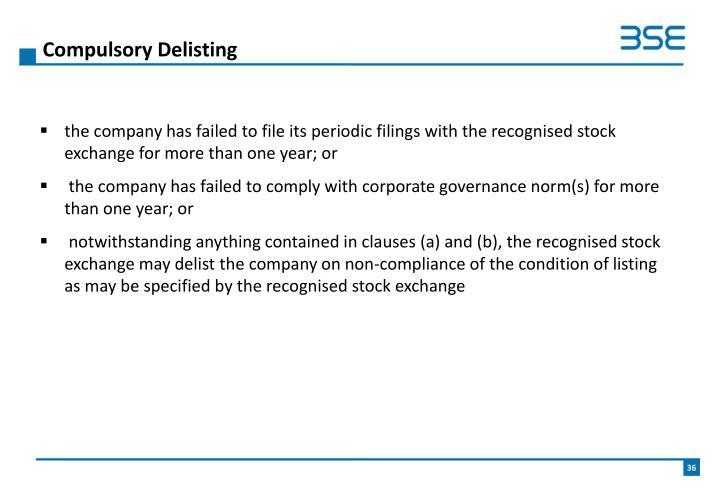 Compulsory Delisting