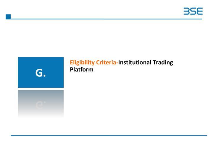 Eligibility Criteria-