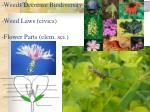 weeds decrease biodiversity weed laws civics flower parts elem sci
