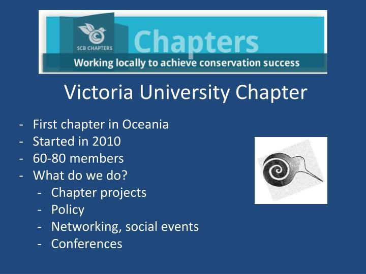 Victoria University Chapter