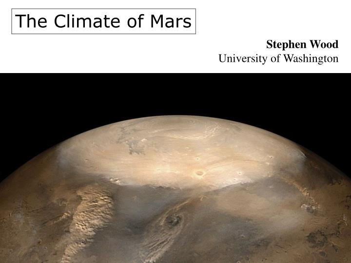 The Climate of Mars