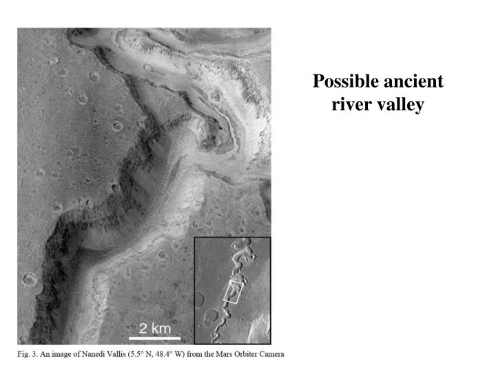 Possible ancient river valley