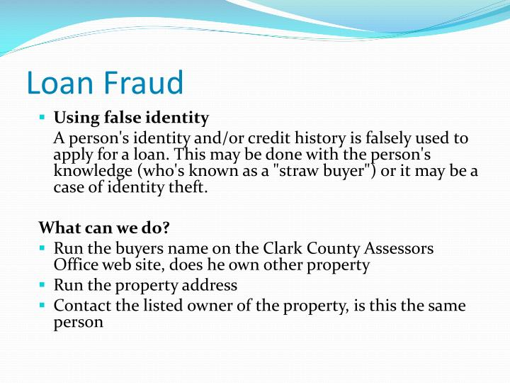 Loan Fraud