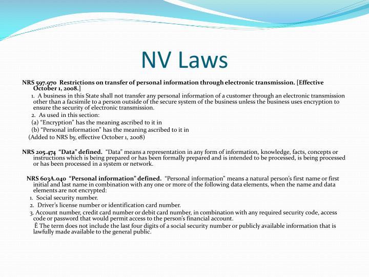 NV Laws