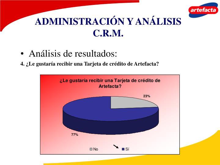 ADMINISTRACIÓN Y ANÁLISIS C.R.M.