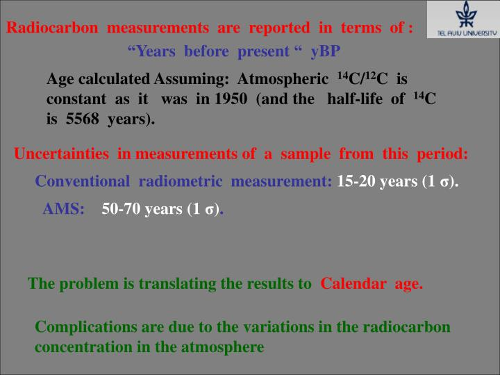 Radiocarbon  measurements  are  reported  in  terms  of :