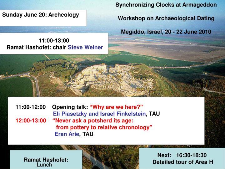 Synchronizing Clocks at Armageddon
