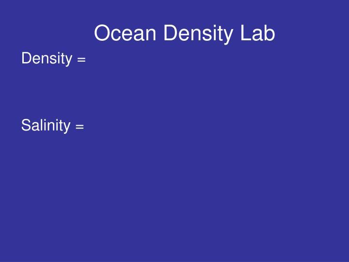 Ocean Density Lab