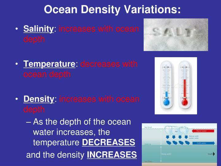 Ocean Density Variations: