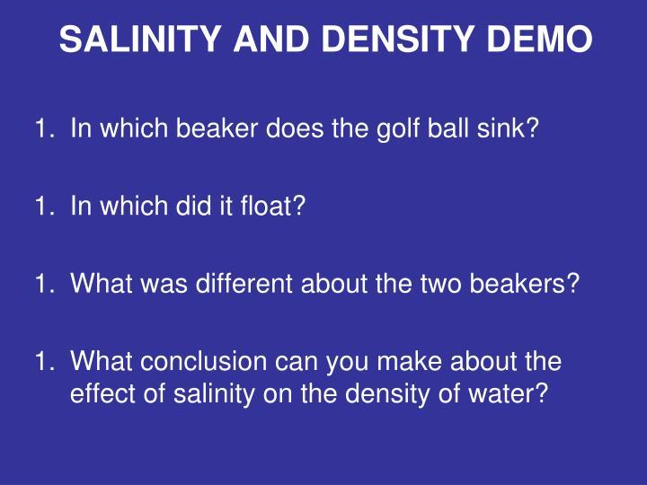 SALINITY AND DENSITY DEMO