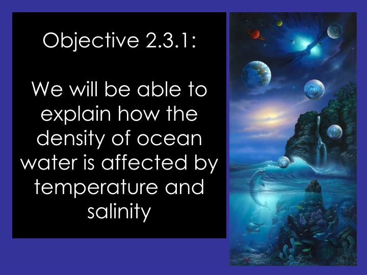 Objective 2.3.1: