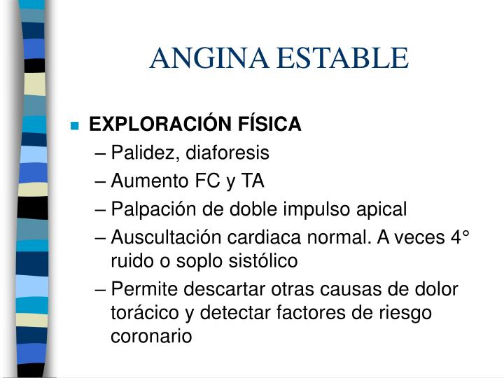 ANGINA ESTABLE