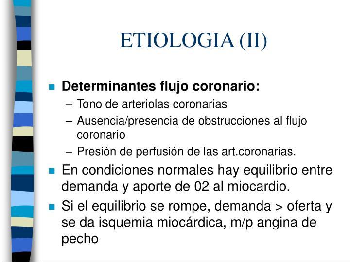 ETIOLOGIA (II)