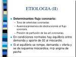 etiologia ii