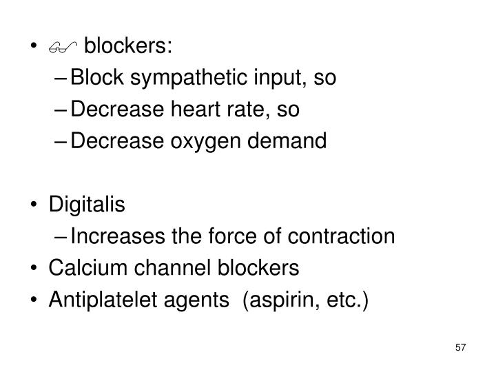 blockers: