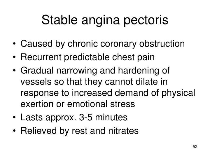 Stable angina pectoris