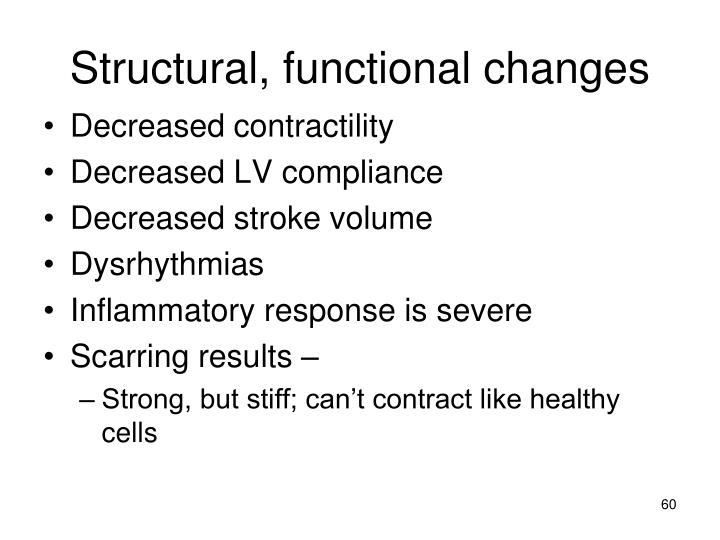 Structural, functional changes
