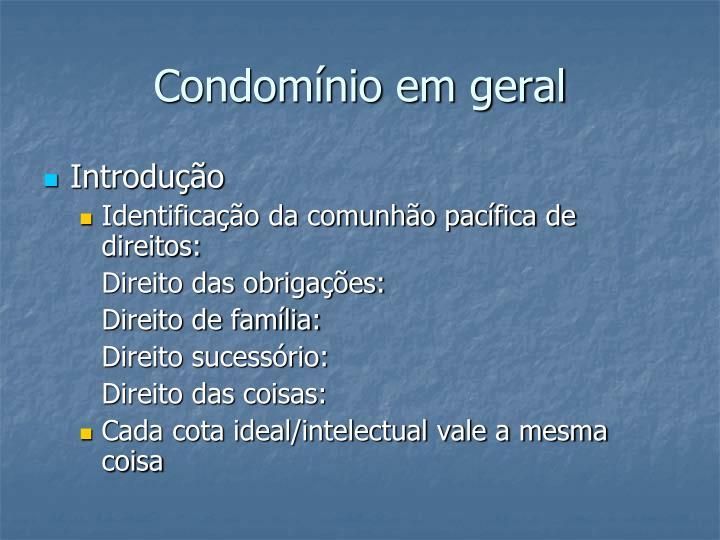 Condomínio em geral