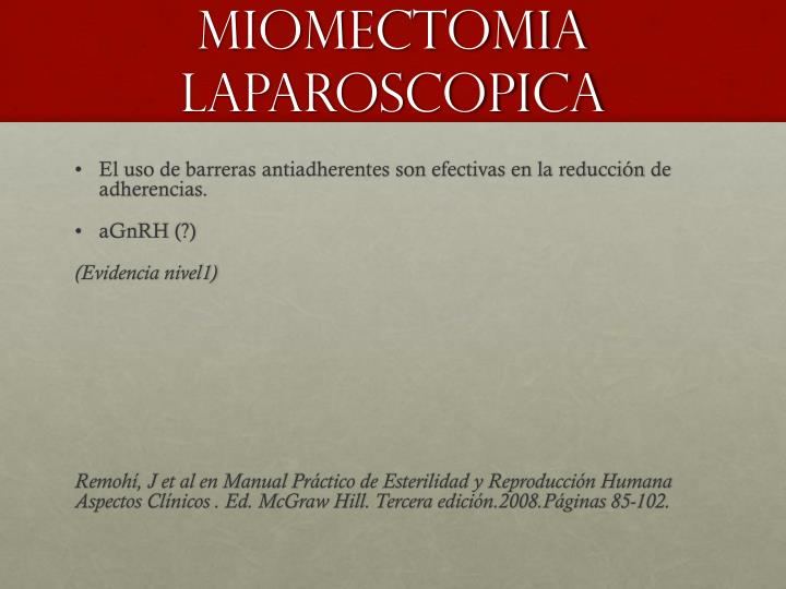 Miomectomia