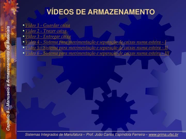 VÍDEOS DE ARMAZENAMENTO