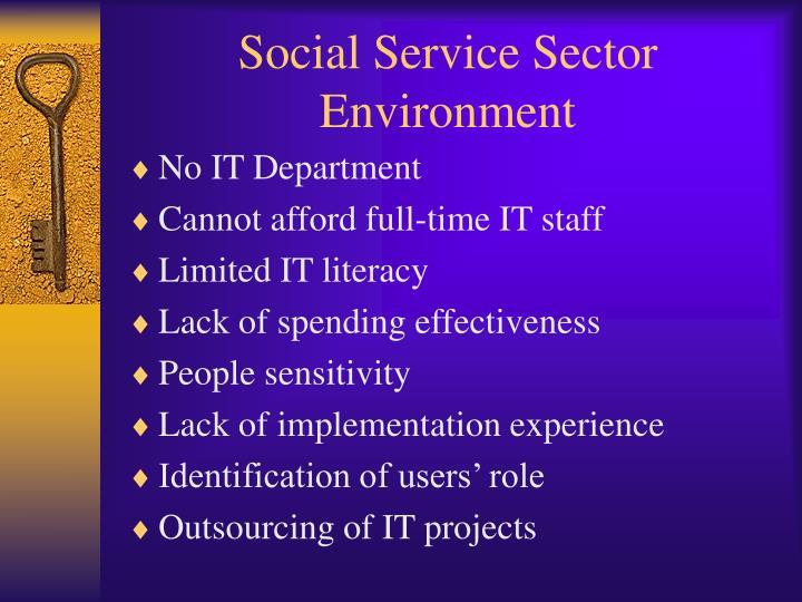 Social Service Sector Environment