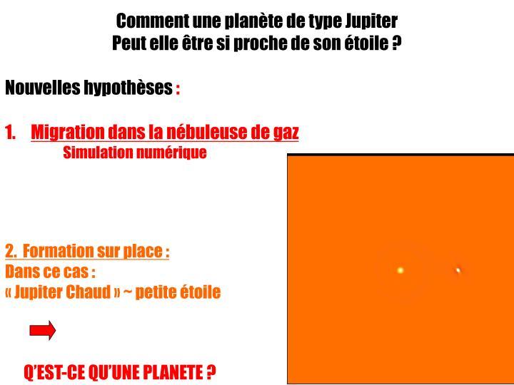 Comment une planète de type Jupiter