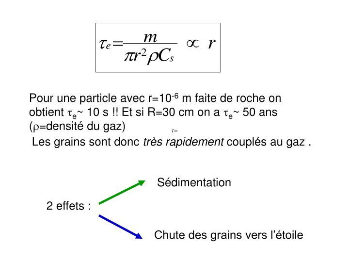 Pour une particle avec r=10