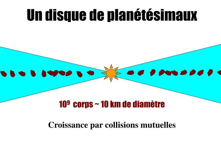Un disque de planétésimaux