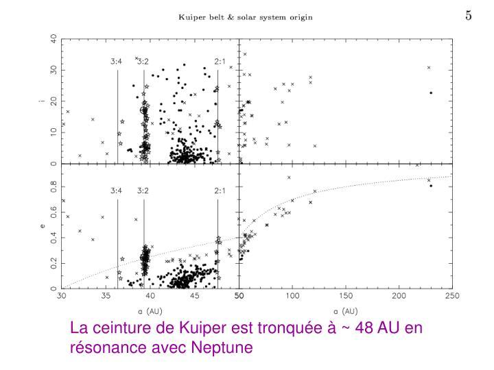 La ceinture de Kuiper est tronquée à ~ 48 AU en