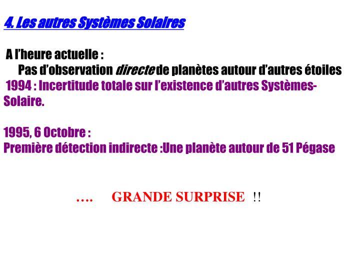 4. Les autres Systèmes Solaires