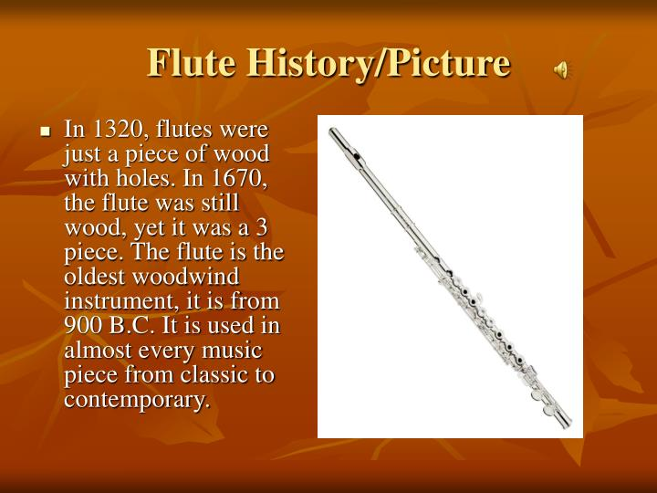 Flute History/Picture