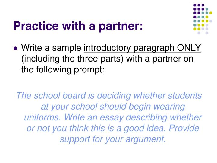 Practice with a partner: