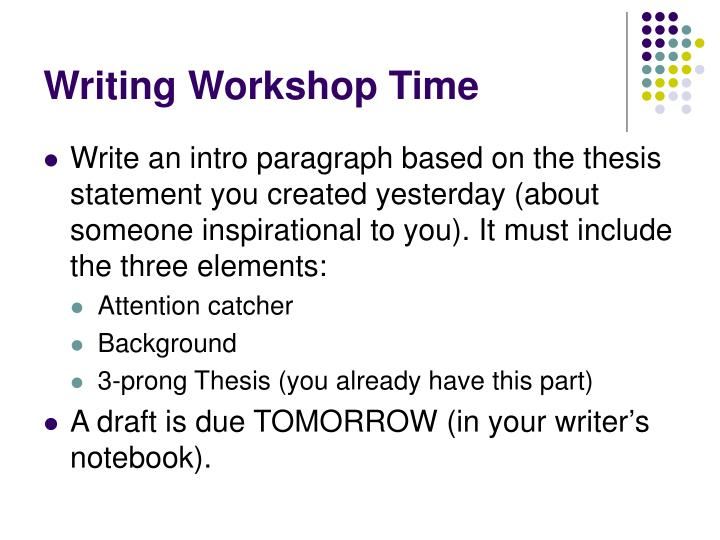 Writing Workshop Time