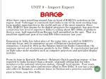 unit 9 import export9