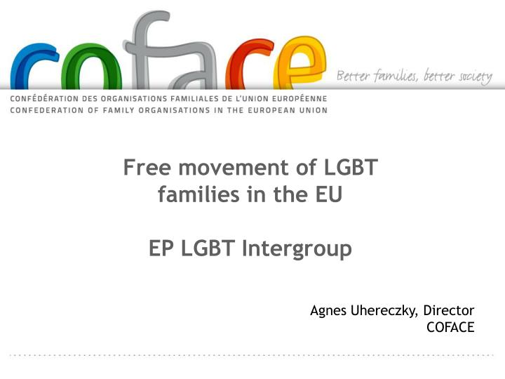 Free movement of LGBT families in the