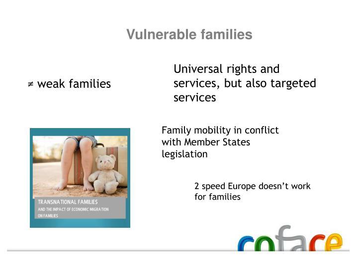 Vulnerable families