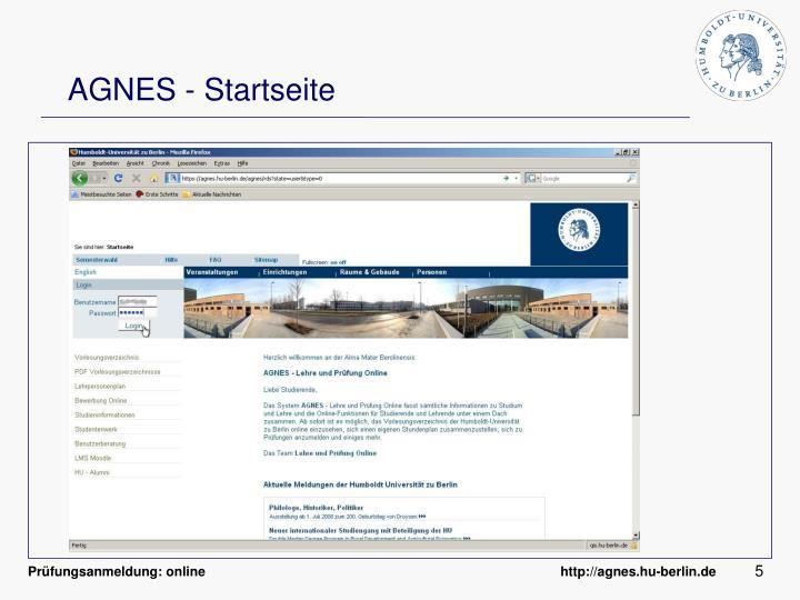 AGNES - Startseite