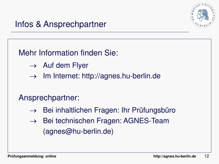 Infos & Ansprechpartner