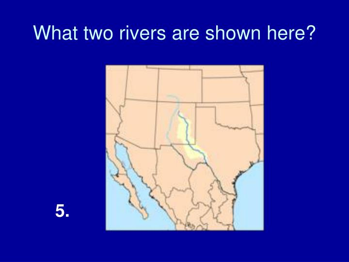 What two rivers are shown here?