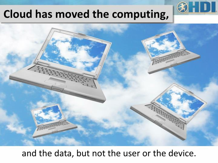 Cloud has moved the computing,
