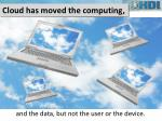 cloud has moved the computing