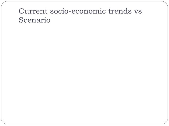 Current socio-economic trends vs Scenario
