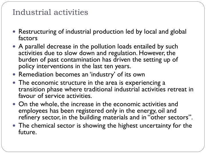 Industrial activities